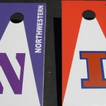 Northwestern/Illinois Cornhole/Bags Boards
