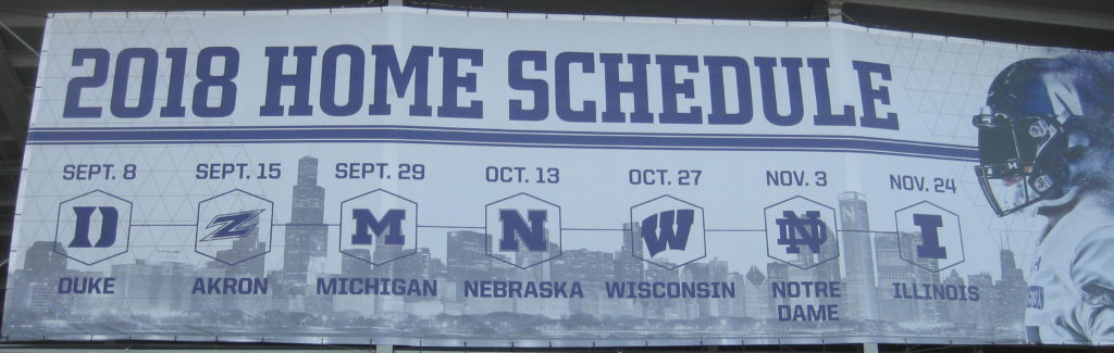 Northwestern Football Home Schedule 2018