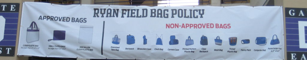 Northwestern Ryan Field Bag Policy