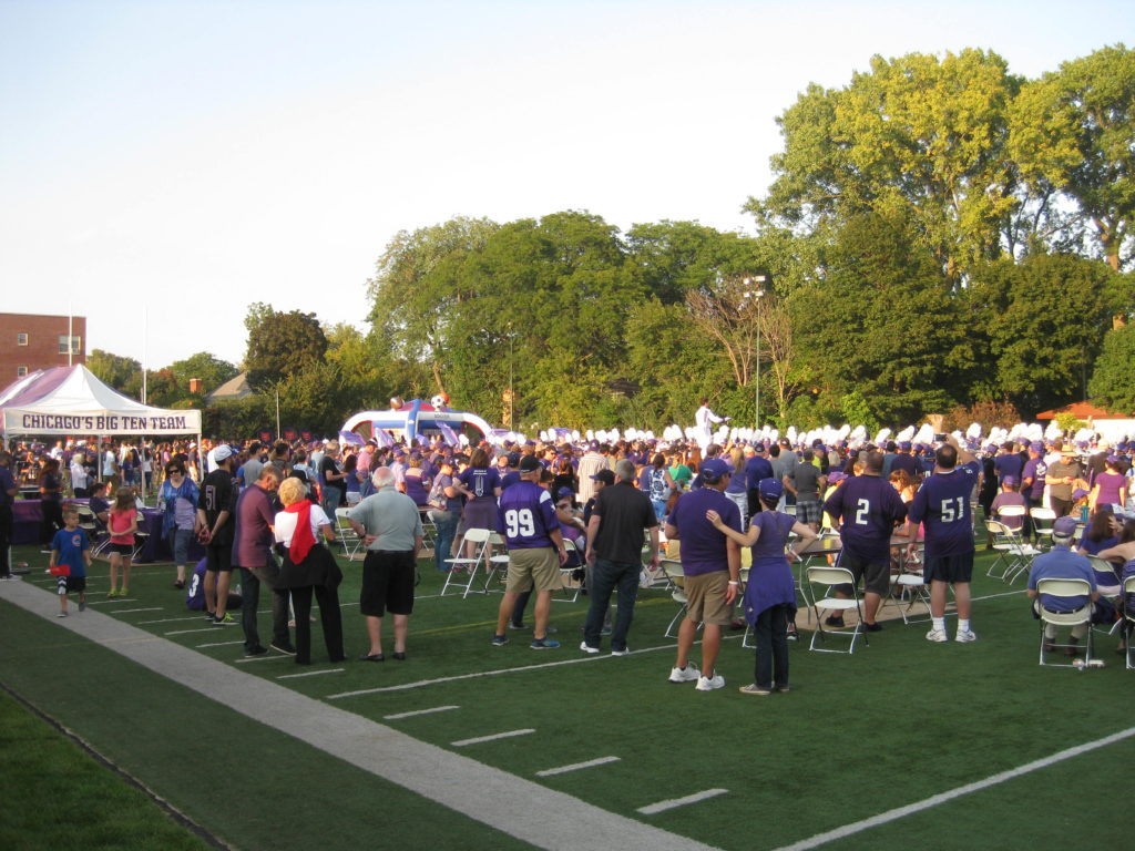 Northwestern Marching Band Wildcat Alley