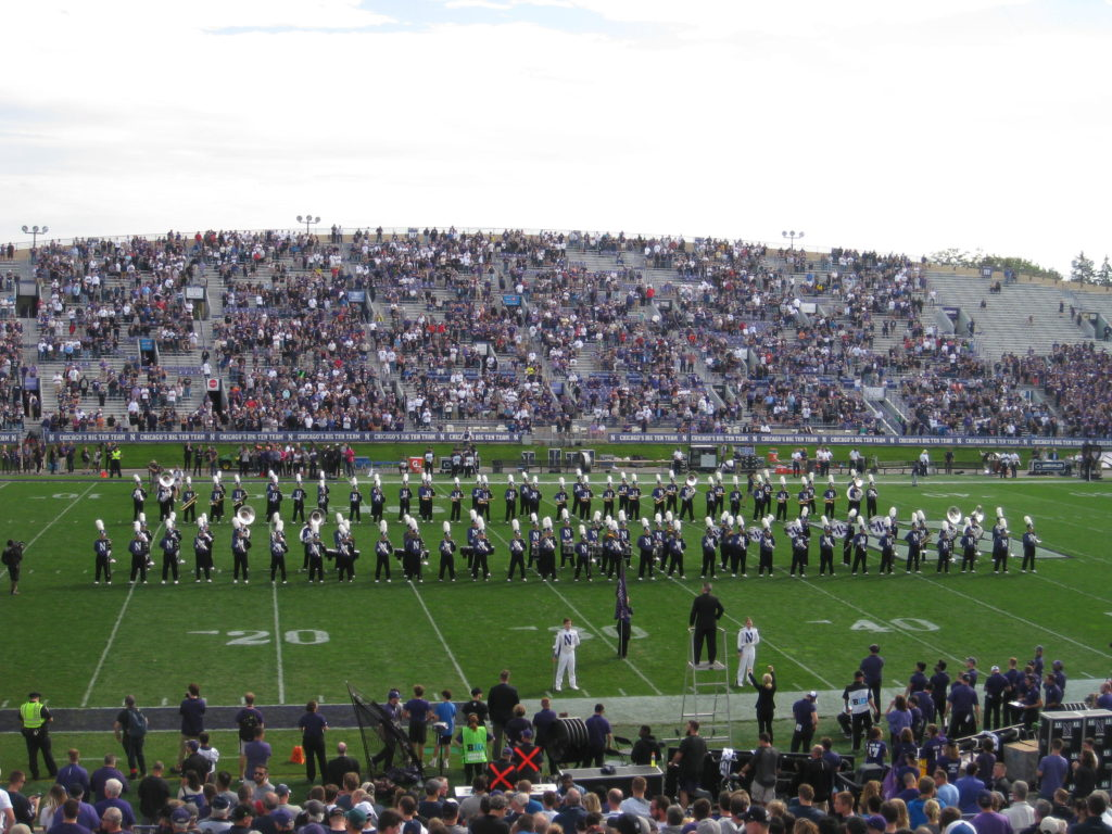 Northwestern Marching Band Pregame