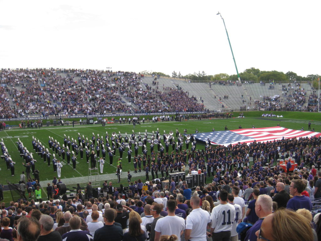 Northwestern Ryan Field National Anthem