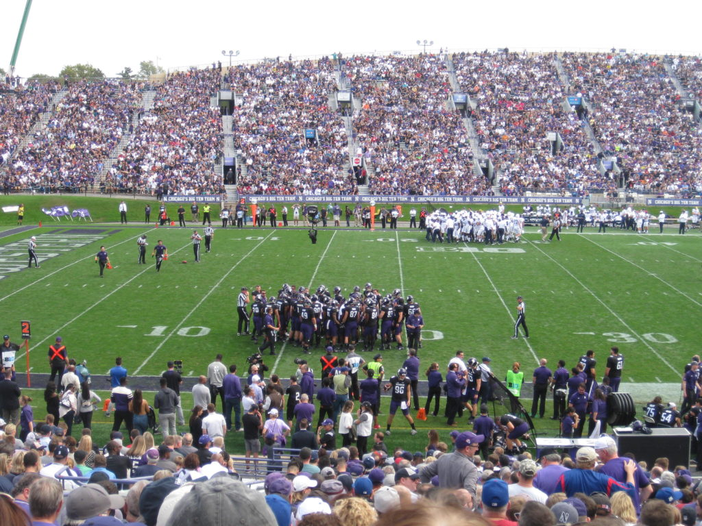 Northwestern Football Huddle 2017