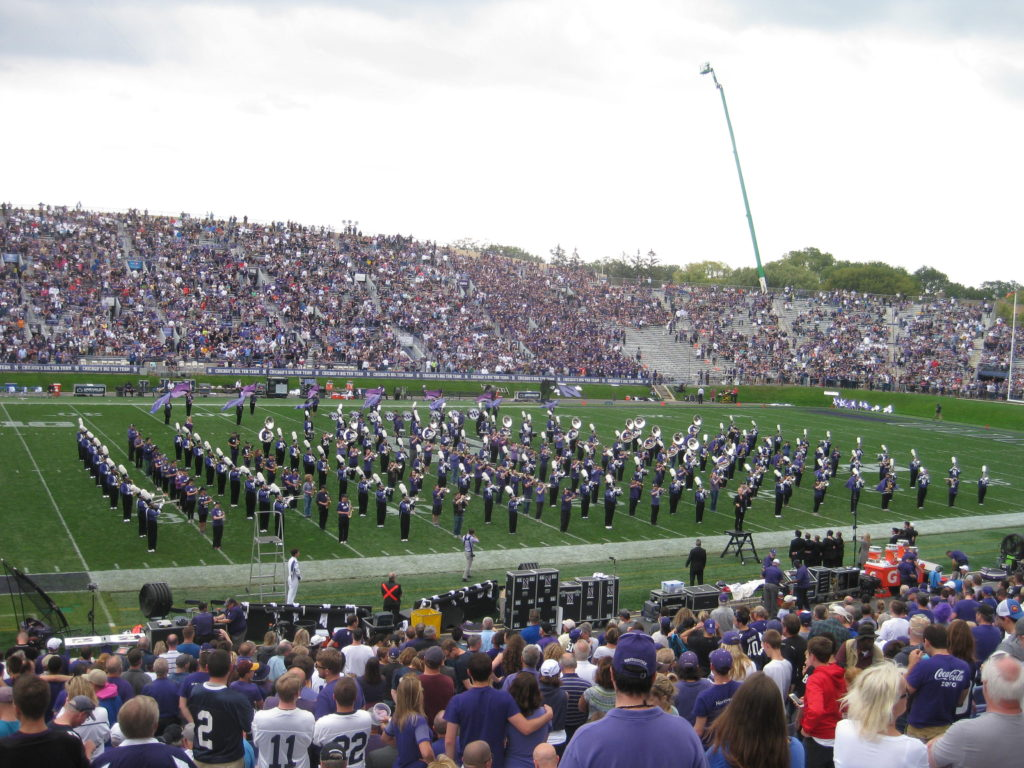 Northwestern Marching Band Halftime Homecoming 2017