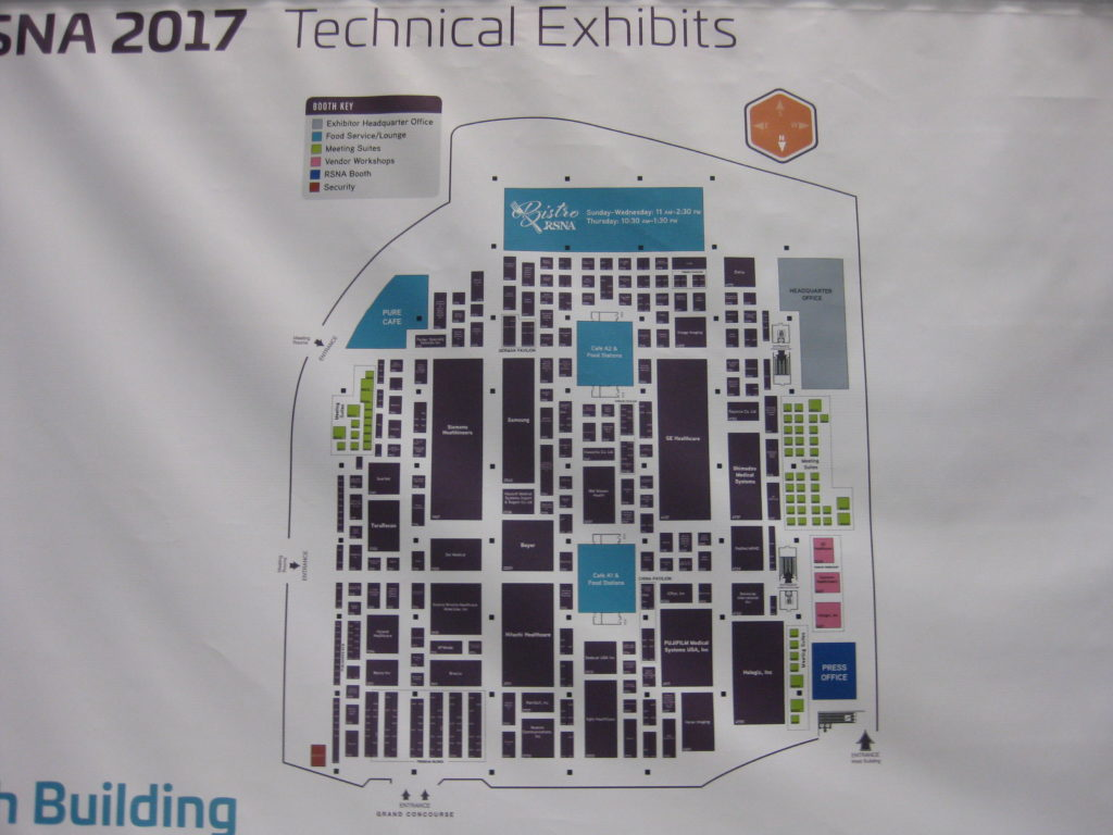 RSNA Technical Exhibit Map South