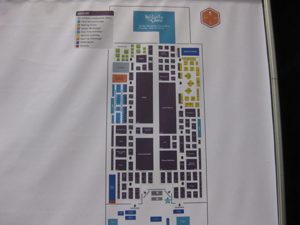 RSNA Technical Exhibit Map North
