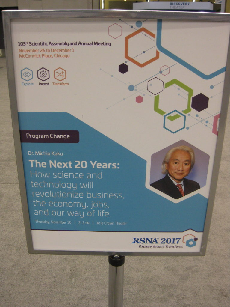 IMG 2807 e1512101472409 768x1024 - Radiological Society of North America (RSNA) Meeting in Chicago, IL, in 2017, at McCormick Place
