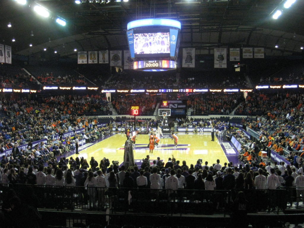 IMG 2834 1024x768 - Illinois vs Northwestern Basketball at Allstate Arena 2017