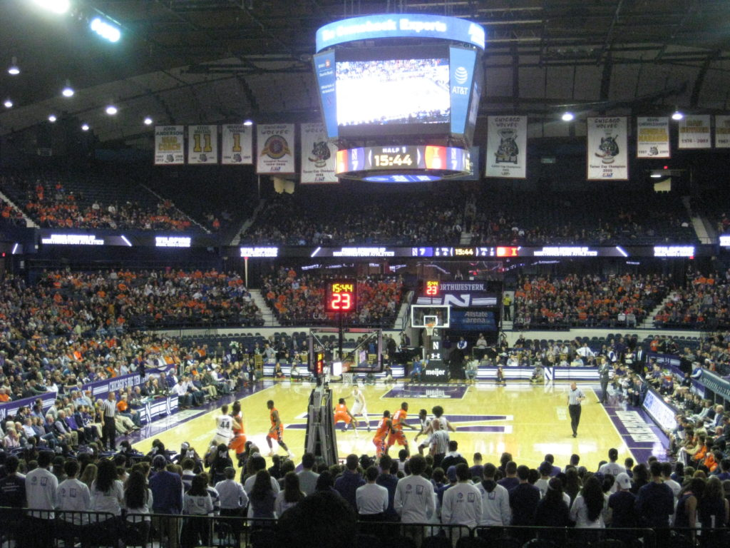 IMG 2839 1024x768 - Illinois vs Northwestern Basketball at Allstate Arena 2017