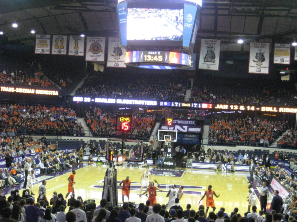 IMG 2842 1024x768 - Illinois vs Northwestern Basketball at Allstate Arena 2017