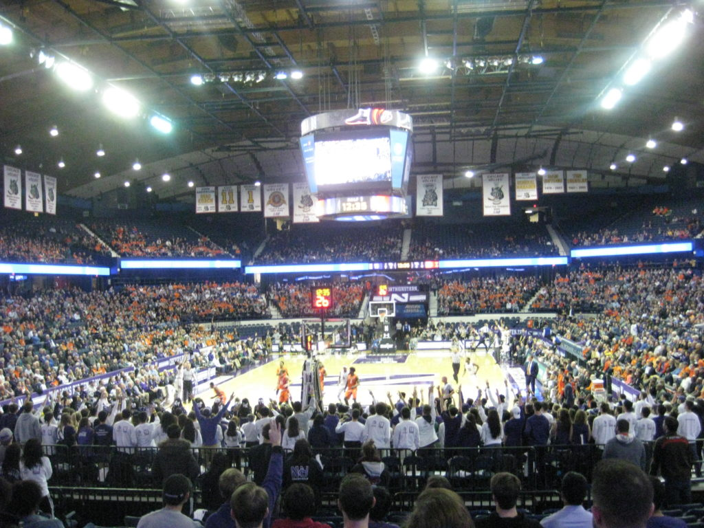 IMG 2843 1024x768 - Illinois vs Northwestern Basketball at Allstate Arena 2017
