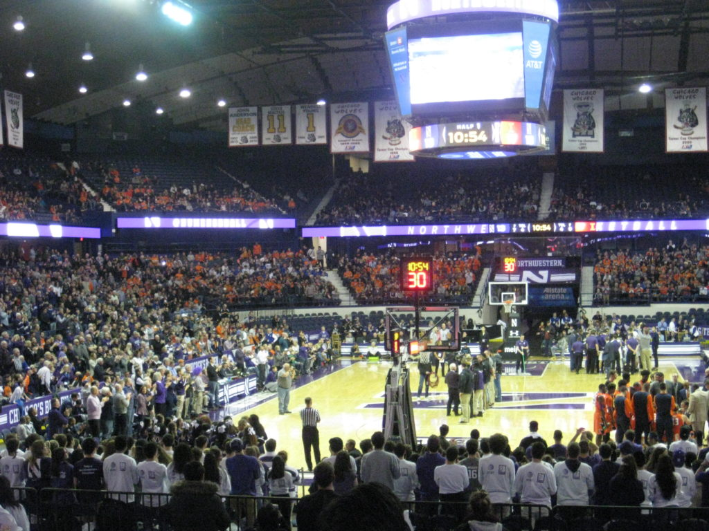 Northwestern Illinois basketball all big ten football