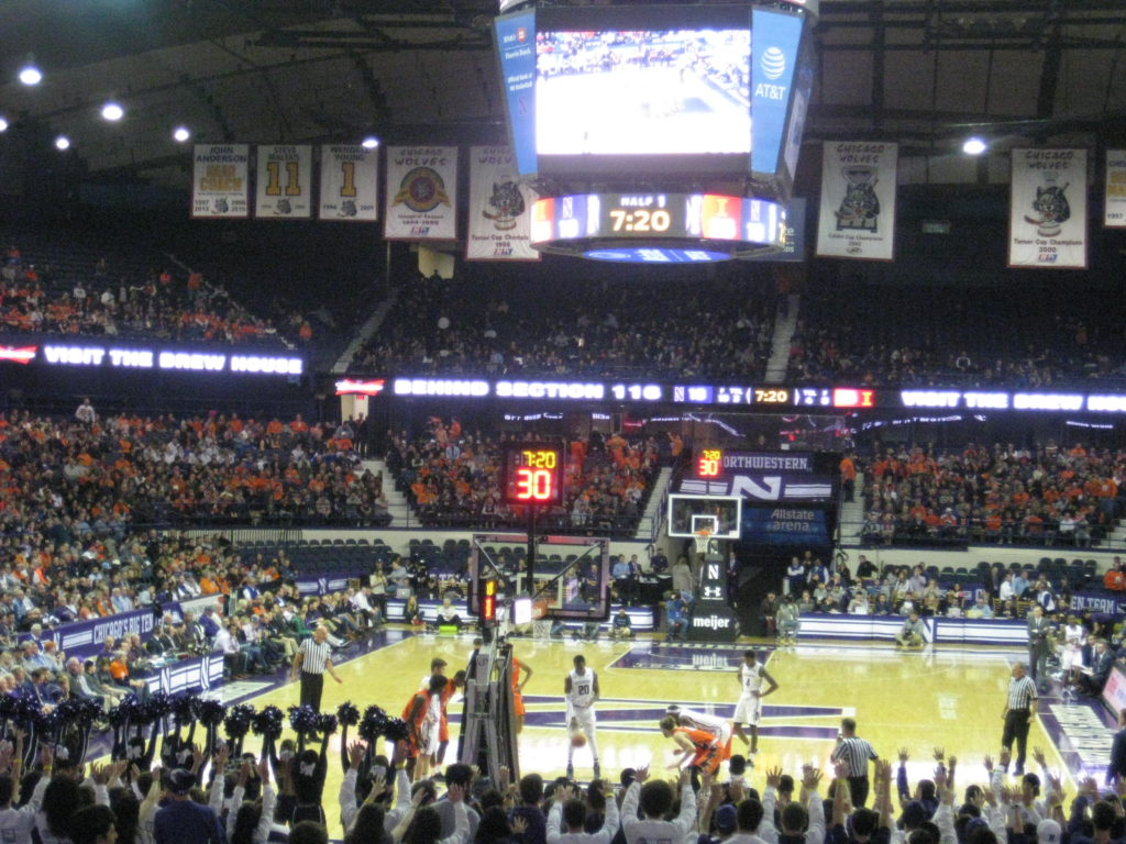 Northwestern Illinois basketball free throw