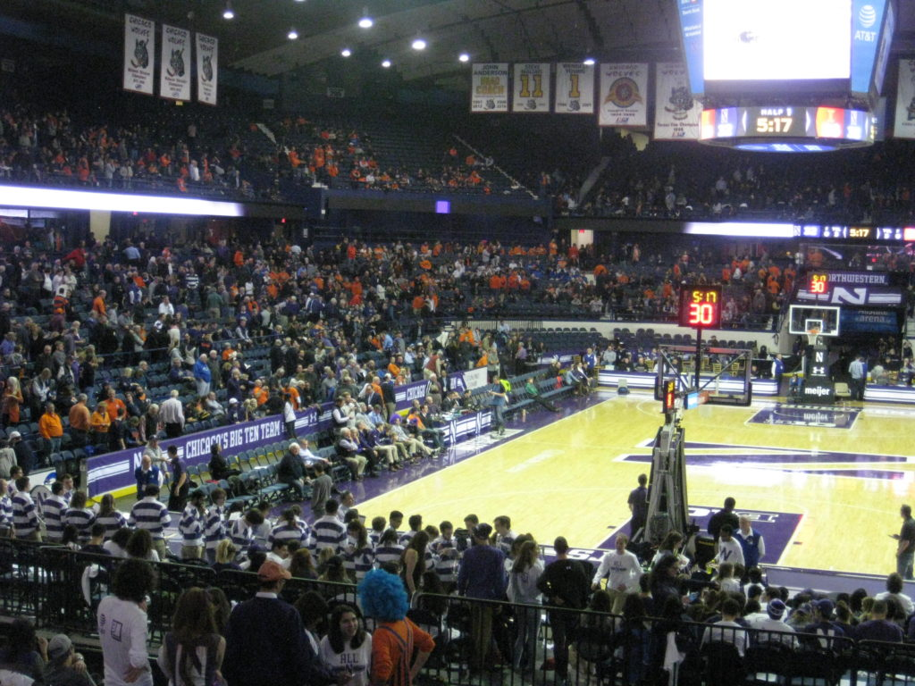 IMG 2856 1024x768 - Illinois vs Northwestern Basketball at Allstate Arena 2017