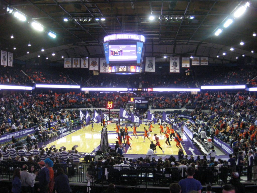 IMG 2857 1024x768 - Illinois vs Northwestern Basketball at Allstate Arena 2017