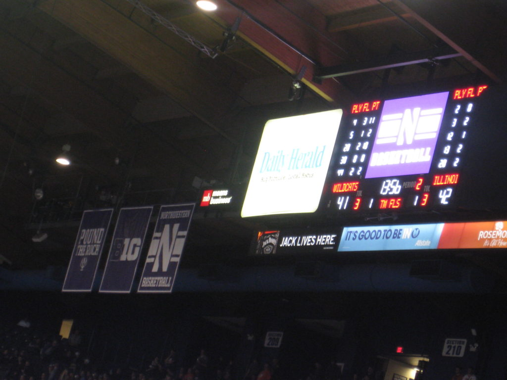 Northwestern Illinois basketball banner