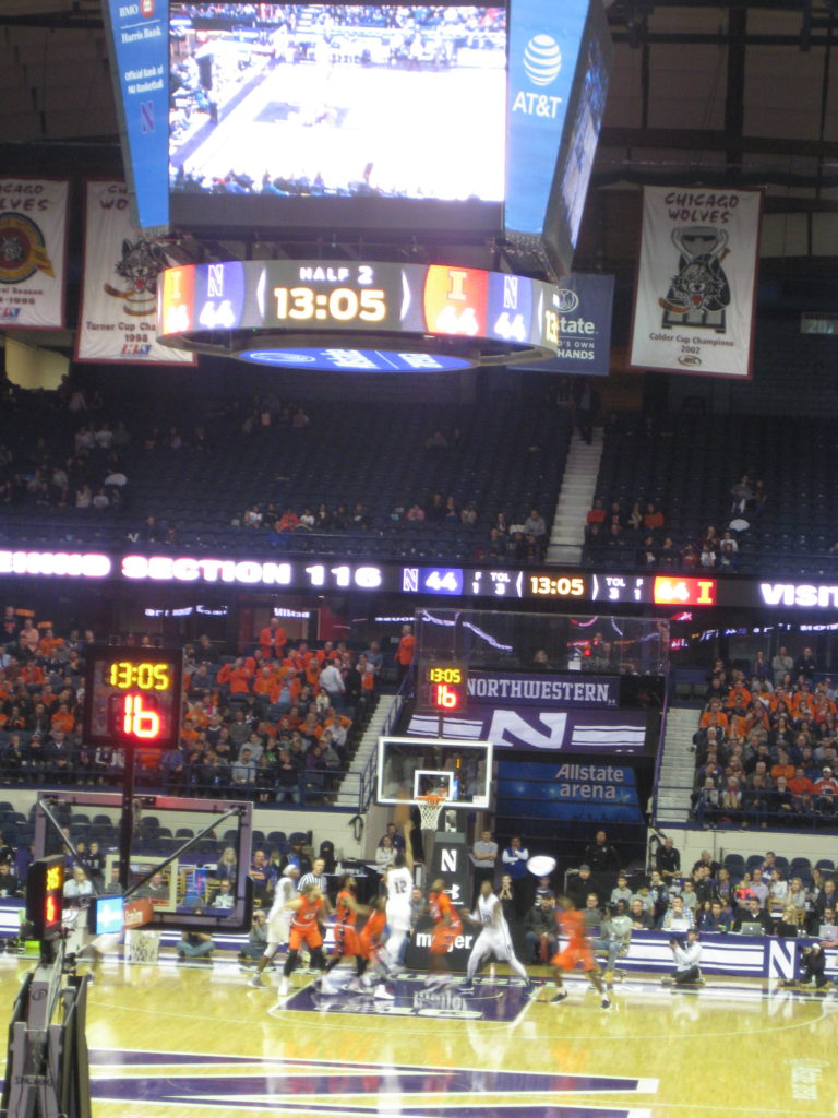 Northwestern Illinois basketball layup