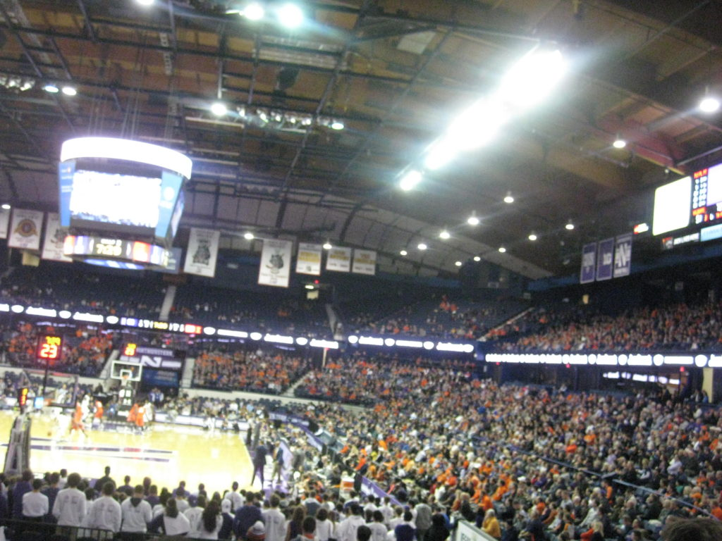 Northwestern Illinois basketball crowd