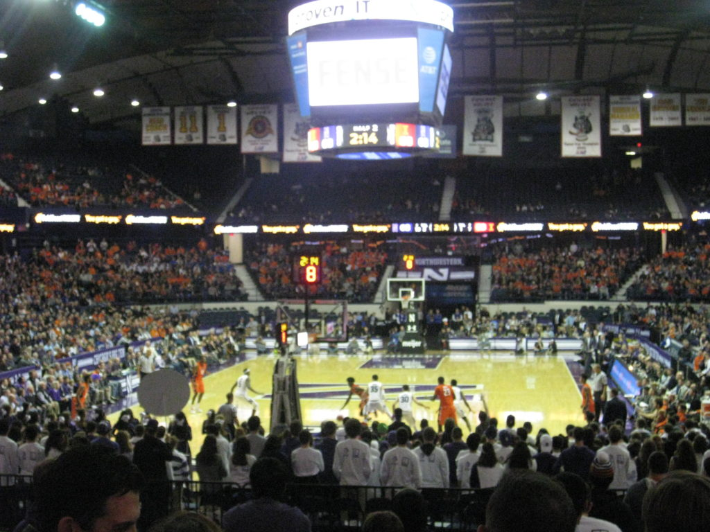 IMG 2881 1024x768 - Illinois vs Northwestern Basketball at Allstate Arena 2017