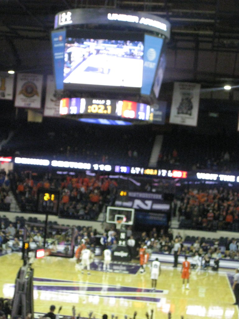 Northwestern Illinois basketball game winner