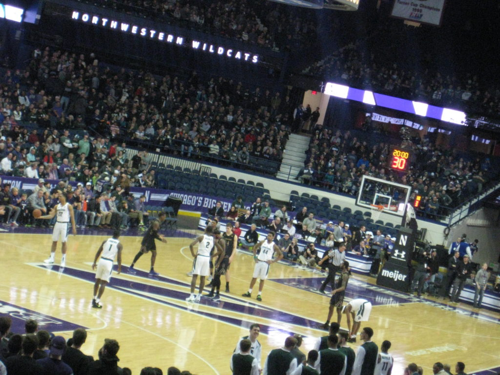 IMG 2919 1024x768 - Michigan State vs Northwestern Basketball at Allstate Arena 2018