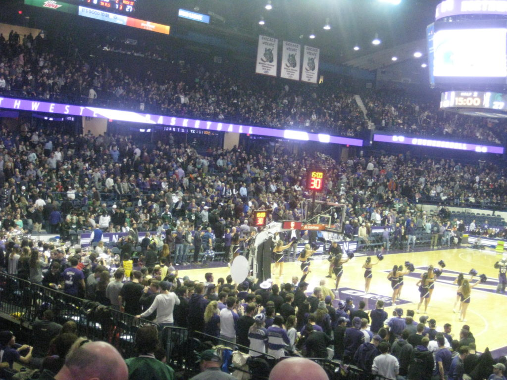 IMG 2947 1024x768 - Michigan State vs Northwestern Basketball at Allstate Arena 2018