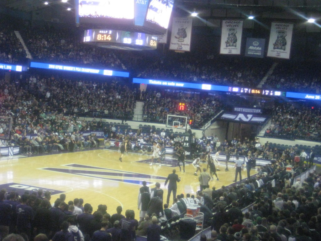 IMG 2966 1024x768 - Michigan State vs Northwestern Basketball at Allstate Arena 2018