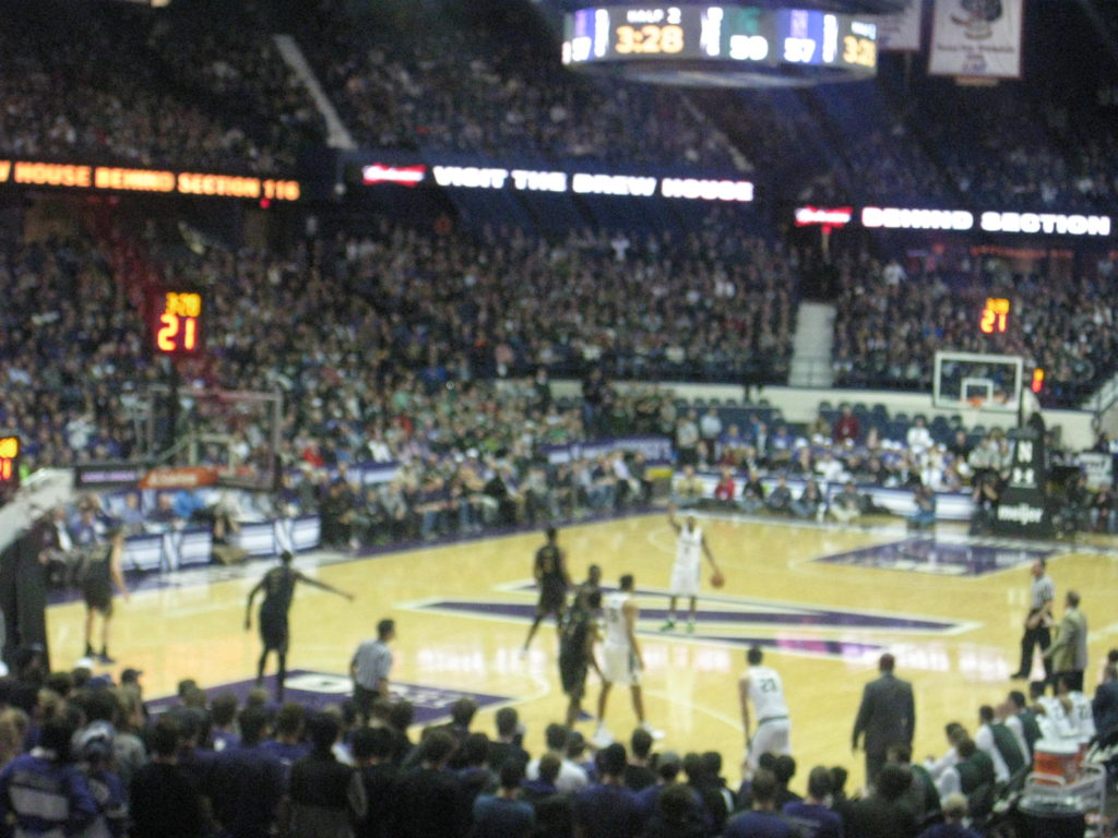 Northwestern basketball pass
