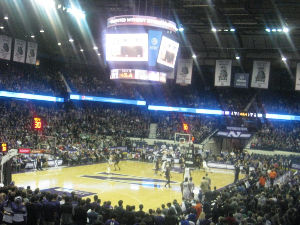 IMG 2976 1024x768 - Michigan State vs Northwestern Basketball at Allstate Arena 2018