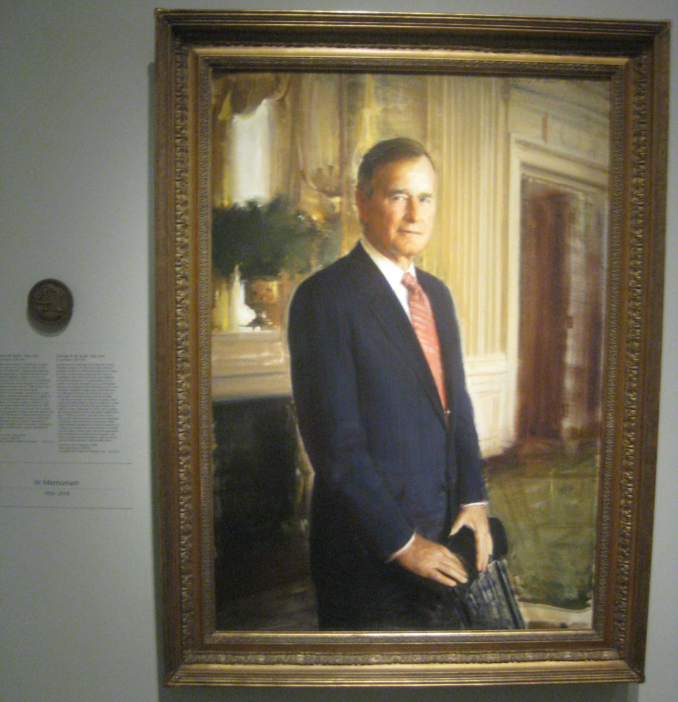george hw bush president portrait 41 988x1024 - Washington D.C. and Cherry Blossoms 2019