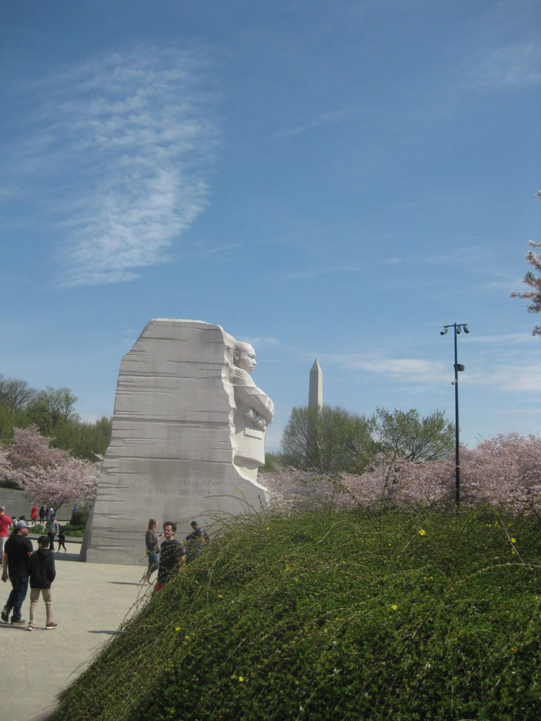 cherry blossom martin luther king memorial e1554677924929 768x1024 - Washington D.C., Cherry Blossoms, and National Museum of African Art April 2019