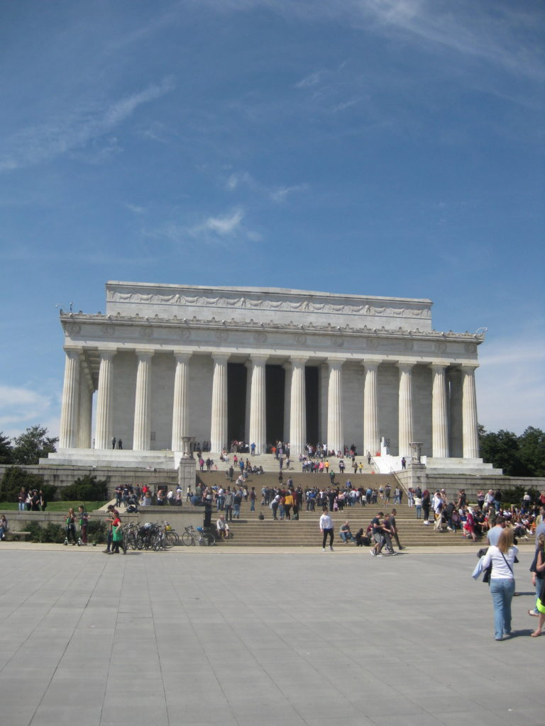 lincoln memorial washington dc e1554677772568 768x1024 - Washington D.C., Cherry Blossoms, and National Museum of African Art April 2019