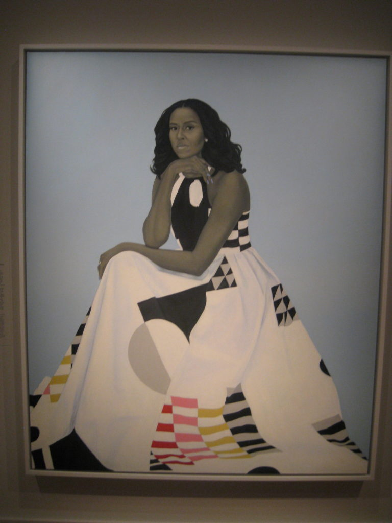 michelle obama portait gallery e1554678058175 768x1024 - Washington D.C., Cherry Blossoms, and National Museum of African Art April 2019