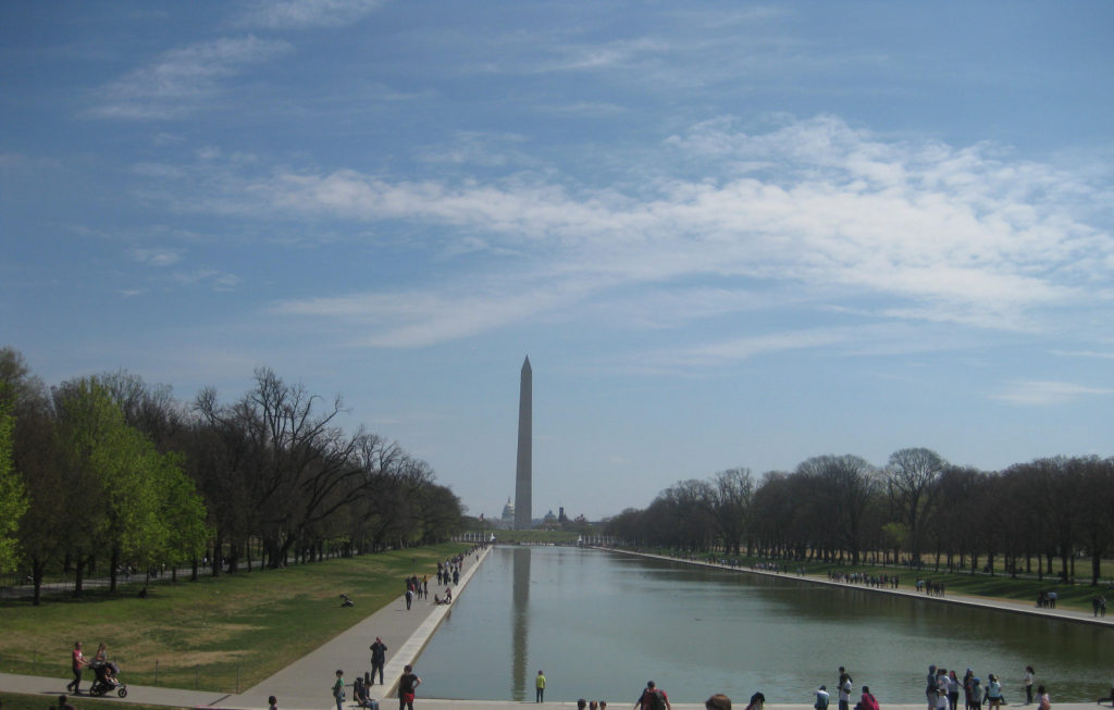 washington monument capitol dc 1024x653 - Washington D.C., Cherry Blossoms, and National Museum of African Art April 2019