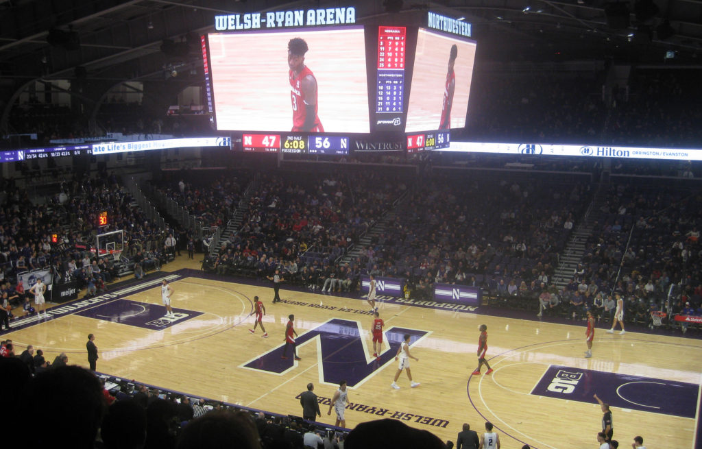 northwestern inbound basketball nebraska 1024x655 - Nebraska vs Northwestern Basketball at Welsh-Ryan Arena 2020