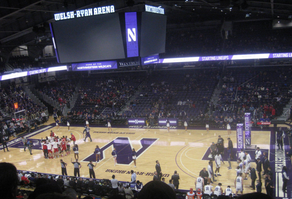 welsh ryan northwestern nebraska basketball 1024x698 - Nebraska vs Northwestern Basketball at Welsh-Ryan Arena 2020