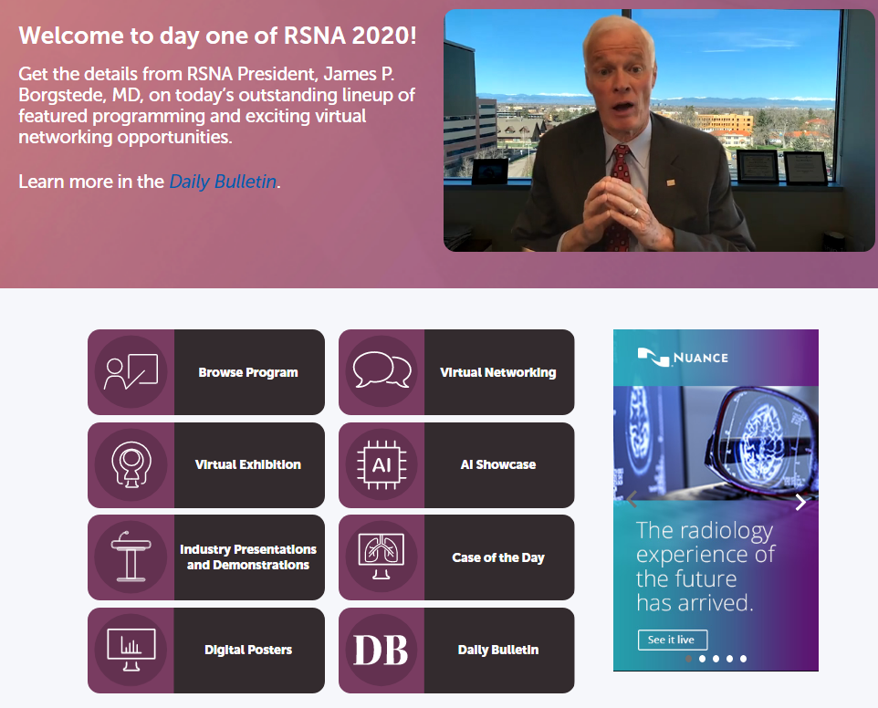 rsna 2020 navigation - Virtual Radiological Society of North America (RSNA) Meeting in 2020